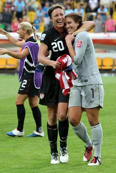 After the win against Brazil in the 2011 World Cup. (The WNT Blog, U.S. Soccer)