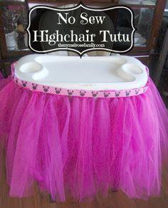 No Sew Highchair Tutu