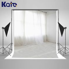 Kate Indoor Wedding Backdrop White Floor and Curtains Photo Custom Large Size Seamless Photo for Photos studio shoot