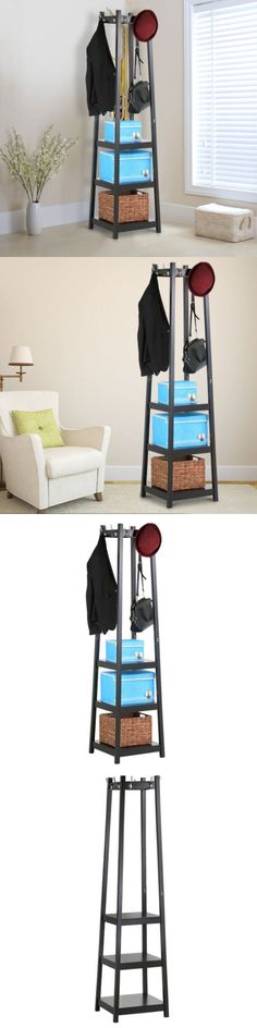 Hooks and Hangers 36024: 3 Tiers Shelf Coat Shoe Towel Rack, Home Decor Hallway Wall Storage Furniture -> BUY IT NOW ONLY: $62.99 on eBay!