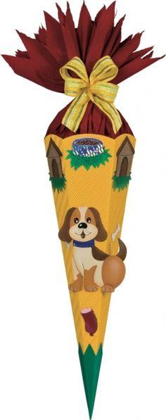 Schultüten - Schultüten - Bastelset Hund * Tim * - ein Designerstück von bastelstuebel2011 bei DaWanda