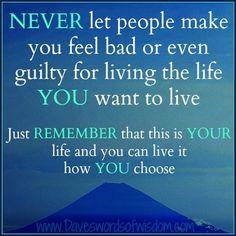 Never take a guilt trip