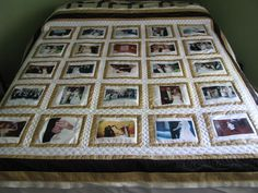 Wedding memory quilt
