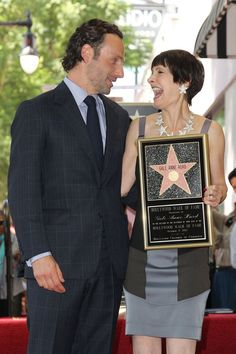Pin for Later: The Walking Dead's Andrew Lincoln Is 100% Hunk  With Gale Anne Hurd