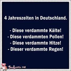 4 Jahreszeiten in Deutschland