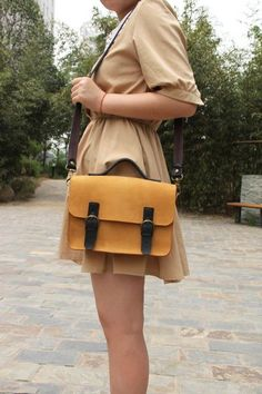 Handmade Artisan Genuine Leather Briefcase Handbag Messenger Bag