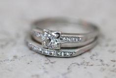 Vintage Engagement Ring Platinum Ring by FergusonsFineJewelry, $2250.00