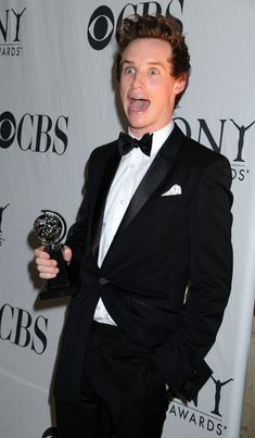 Eddie Redmayne. Someone's excited they won a Tony?