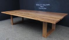 christian cole, blackbutt 3x1.5m recycled woolshed table. $4100 furnitureexchange.com.au