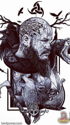 Vikings Phone Wallpaper em 2019 vikings Papel de