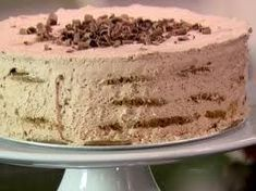 From Barefoot Contessa's  Outrageous easy to make chocolate mocha ice box cake made with Tates chic. chip cookies!