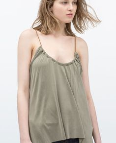 GATHERED FRONT TANK TOP
