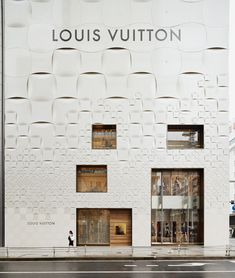 *다미에 패턴, 긴자 루이비통 스토어에 투영되다 [ jun aoki ] tokyo louis vuitton store features patterned façades