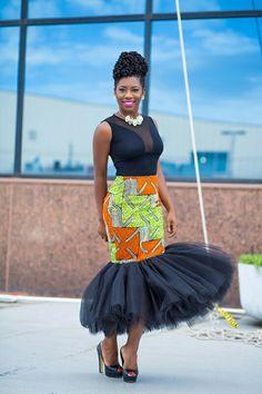 African print tutu skirt …