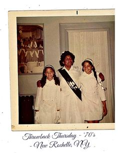 Throwback Thursday - '70's Ushering with sister and grandmother at Gospel Tabernacle Church, New Rochelle, NY #throwbackthursday #church #newrochelle #family
