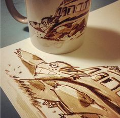This Catbus made with coffee: