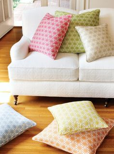 Colorful pillows  I like the colors