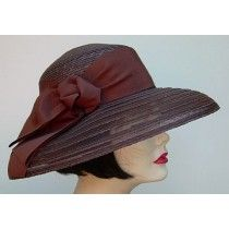 f1ea49690db Brown Milan Straw hat with Sheer Brim to take you from Casual to Dressy. By