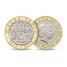 Αναμνηστικό νόμισμα εκδόθηκε από το Βασιλικό Νομισματοκοπείο της Αγγλίας για τα οκτακόσια χρόνια από τη Magna Carta #coinsclubgr #coins #coincollection