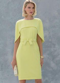 V1579 | Misses'/Misses' Petite Dress | Vogue Patterns Petite Dresses, Trendy Dresses, Elegant Dresses, Nice Dresses, Fashion Dresses, Woman Dresses, Casual Dresses, Vogue Patterns, Miss Dress