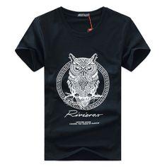 Nova chegada 2015 dos homens t Shirt Hot Summer estilo de moda masculina marca T shirt de algodão dos desenhos animados T shirt / coruja dos homens T shirt M 5XL em Camisetas de Roupas e Acessórios Masculinos no AliExpress.com | Alibaba Group