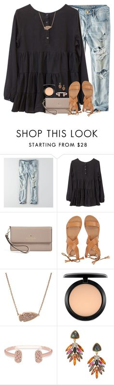 """""""Comment if You're a Senior! I Need Your Help!"""" by southernstylish ❤ liked on Polyvore featuring American Eagle Outfitters, Kate Spade, Billabong, Kendra Scott, MAC Cosmetics and Lizzie Fortunato"""