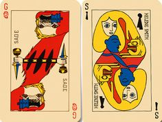 Playing Cards Art, Art Et Illustration, Les Oeuvres, Baseball Cards, Occupation, Prints, Animals, Gravure, Coups