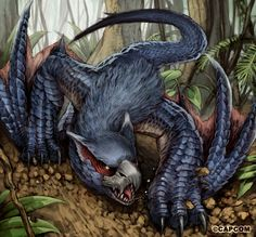 nargacuga in the forest