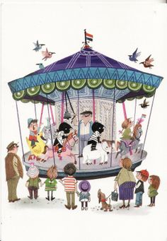Writing my way around the globe: This week's lot Carnival Rides, Kids Prints, Children's Book Illustration, Drawing For Kids, Vintage Children, In This World, Childrens Books, Illustrators, Schmidt