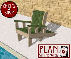 Club Chair plans Patio Chairs, Outdoor Chairs, Outdoor Furniture, Outdoor Decor, Chair Bench, Diy Chair, Adirondack Chair Plans, Shop Plans, Club Chairs