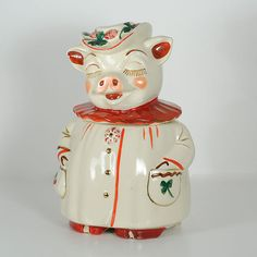 Vintage 40's Winnie The Pig this was in my grandmother Mable's kitchen and always full of cookies