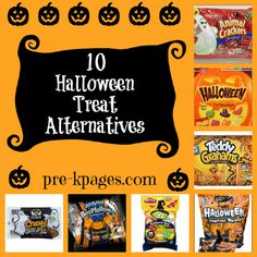 10 Non-Candy Halloween Treats for your classroom party via www.pre-kpages.com