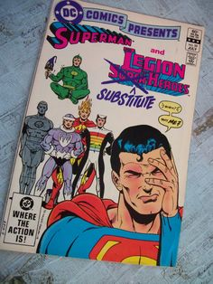 Vintage dc comics presents superman and the legion of by booth58