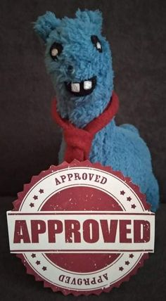"""Lámi (he is a famous blue """"special"""" Llama) is the main quality controller of the Hungarian Bear Forces. If you see him, you know this product is a speciality. #Lámiapproved #Lámiforpresident #HungarianBearForces"""