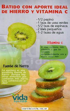 Verde y Natural Healthy Juices, Healthy Smoothies, Healthy Drinks, Healthy Tips, Healthy Recipes, Veggie Recipes, Juice Smoothie, Smoothie Drinks, Smoothie Recipes
