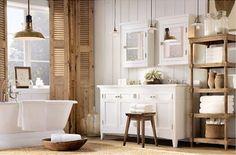 Gemütliches und natürliches Badezimmer
