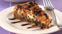 I don't know what a torte is, but this chocolate chip-peanut butter torte looks really yummy