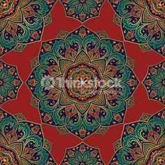 Clipart vectoriel : Pattern of mandalas for textile.