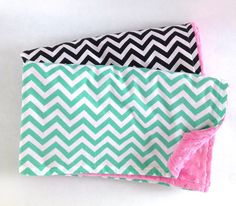 Sweet Chevron Baby Blanket by partyperfectprincess on Etsy, $33.00