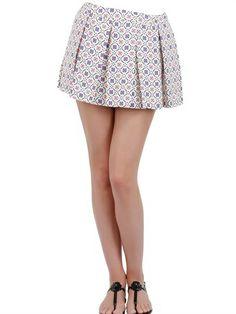Paul & Joe Sister Heavy Crepe De Chine Pleated Mini Skirt on shopstyle.com