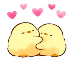 LINE Official Stickers - Soft and Cute Chick 3 (Animated) Example with GIF Animation Cute Bear Drawings, Cute Little Drawings, Cute Kawaii Drawings, Cute Cartoon Images, Cute Love Cartoons, Cute Cartoon Wallpapers, Gif Lindos, Memes Lindos, Cute Love Gif