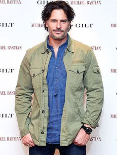 Eye candy, er, Magic Mike actor Joe Manganiello shows off his scruff (but not his arms, sadly) at the launch of a new watch designed by Michael Bastian for GILT in West Hollywood on Thursday, where he talked Magic Mike XXL.
