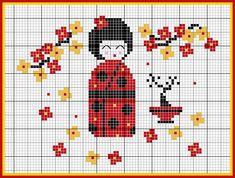 """TABLEAU PT X """"JAPON POUPÉE"""" par leschroniquesdefrimousse.com                                                                                                                                                                                 Plus"""