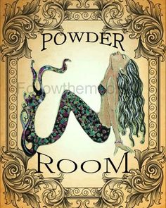 Powder Room Decor Vintage Mermaid And Powder Rooms On Pinterest