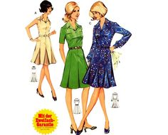 Vintage Sewing Pattern 1970s Pleated Dress by mysweetiepiepie, $14.77