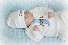 Personalized Baby Boy Layette Gown and Personalized by sassylocks
