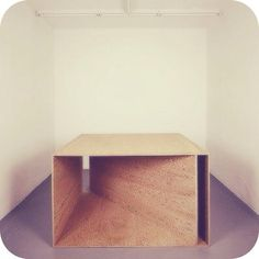 Donald Judd making plywood hip since 1977 Untitled