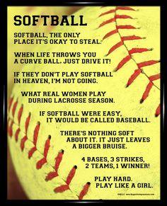 Softball Quotes | Softball Sayings For Posters Softball framed poster print