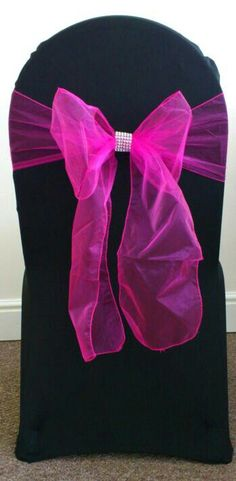 Pink With Bling - Chair Cover - By Vikki - At Sapphire Bespoke Events, 59 Poulton Road, Wallasey, Wirral