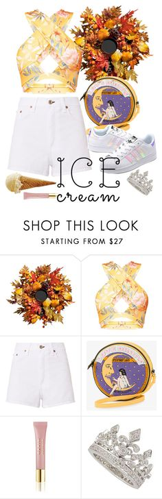 """""""Зной"""" by angelina-nota ❤ liked on Polyvore featuring Improvements, rag & bone, Olympia Le-Tan, adidas Originals, AERIN and Garrard"""